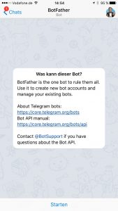 Telegram Botstart