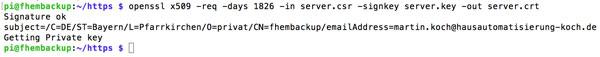 FHEM serverkey